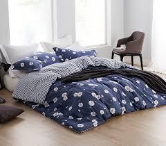 Room Essentials Comforter Set Navy Daisies Twin Xl College Comforter Dorm Room Essentials