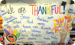 we are thankful step into 2nd grade