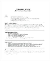 summary in a resume summary resume exles jalcine me