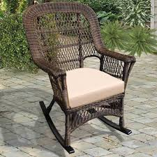 White Rocking Chair North Cape Wicker Manchester Rocker Wickercentral Com