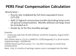 calpers retirement calculator table retirement presentation ppt video online download
