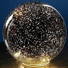 mercury glass ball lights amazon com large lighted mercury glass sphere gazing ball battery