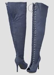 s boots wide width denim thigh high boot wide width wide calf denim thigh high boot