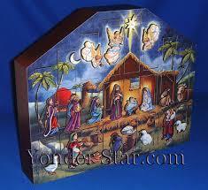nativity advent calendar wooden nativity advent calendar yonder christmas shop llc