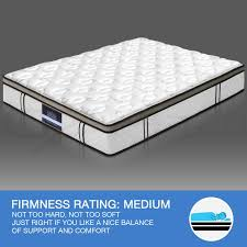 queen double king mattress euro top 5 zone pocket spring latex