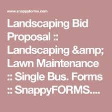 Commercial Landscaping Bids by Landscaping Proposal Template Free Sample Landscaping Business