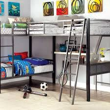 l shaped bunk beds with desk zoomie kids hank twin triple l shaped bunk bed with desk walmart com