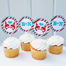 personalized cupcake toppers personalized crawfish cupcake toppers printable or printed w free