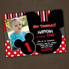 Invitation Card For 1st Birthday Mickey Mouse Birthday Invitations Free Printable Mickey Mouse