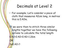 powerpoint multiplication of decimals l2