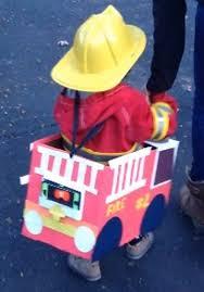 Truck Halloween Costume Making Fire Truck Halloween Costume Diaper Box Sound