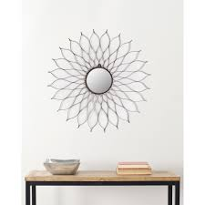 wrought iron petals spread out around a mirrored center give this safavieh handmade arts and crafts flower wall mirror overstock shopping great deals on safavieh mirrors