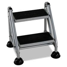 rolling commercial step stool by cosco csc11824ggb1