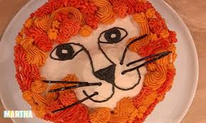video lion cake martha stewart