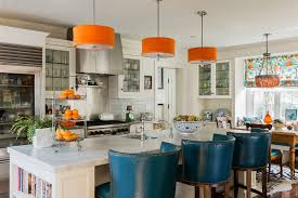 Orange Kitchen Decor by Archive Katie Rosenfeld Interior Design