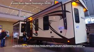 destination trailer floor plans forest river sierra destination 393rl youtube