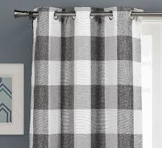 Plaid Blackout Curtains Rosenblum Plaid And Check Blackout Thermal Curtain Panels