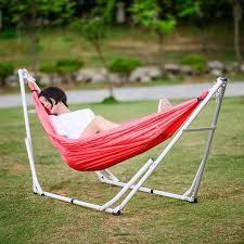 1 people foldable nylon hammock tent folding bed camping garden