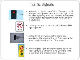 A Flashing Yellow Signal Light Means Chapter 4 Rules Of The Road You Must Drive At A Safe Speed Even