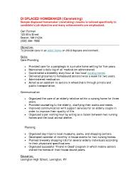 sample resume for nursing sample resume for housewife returning to work free resume samples of resumes for displaced housewives