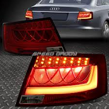 chrome red 3d led bar brake signal tail light for 05 08 audi a6 s6