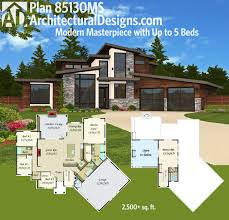 contemporary floor plan architectural designs modern house plan 85130ms gives you an open