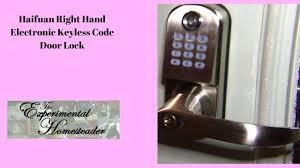 haifuan right hand electronic keyless code door lock youtube