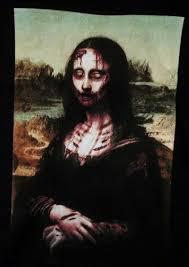 zombie t shirt mona lisa zombie nerdkungfu