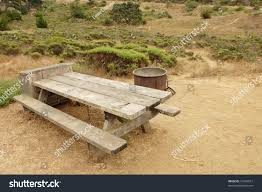 campground picnic table sunset state beach stock photo 16504657