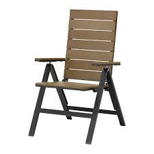 sedia da giardino ikea falster sedia reclinabile da giardino pieghevole nero marrone