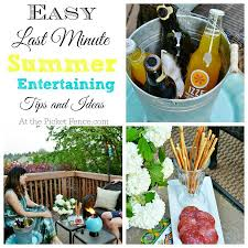 Summer Entertaining Recipes - easy summer entertaining ideas and giveaway at the picket fence