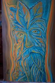 painting wood spirits