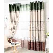 Country Rustic Curtains Country Rustic Blackout Dark Green Beige And Brown Polka Dot Curtains
