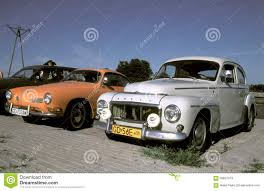volkswagen volvo classic cars volvo p544 and volkswagen ghia editorial stock photo