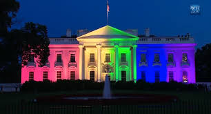 white house lights up rainbow colors to celebrate scotus ruling