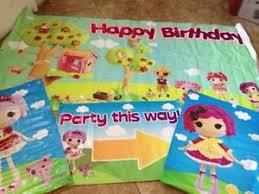 lalaloopsy party supplies lalaloopsy party banner lot sparkles sugar crumbs birthday