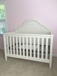 Wendy Bellissimo Convertible Crib Crib Skirt From Pb Adair S Pink And Gold Flamingo Nursery