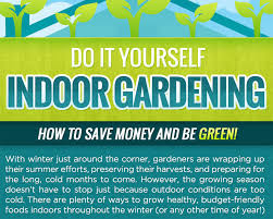 Winter Indoor Garden - infographic how to garden indoors year round inhabitat green