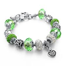 european bead charm bracelet images Murano glass beads crystal 925 silver charm bracelets fun jpg