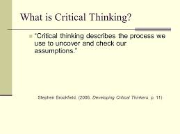 Critical thinking in math and science powerpoint