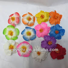 children s hair accessories artificial pe hibiscus flowers with metal clip for children s hair
