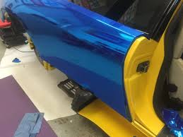 blue chrome lamborghini lamborghini murcielago avery blue chrome wrap universal graphix