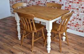 Beech Dining Table Four Seater Rustic Dining Set With Traditional Dining Table And