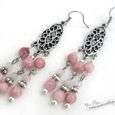 Pink Chandelier Earrings Rhodonite Earrings Beadage