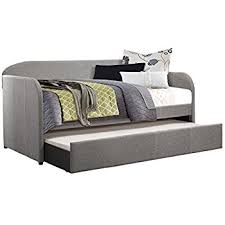 amazon com dhp jordyn daybed with tufted linen upholstery twin