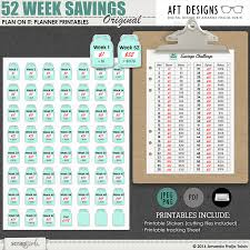 Challenge Original Plan On It 52 Week Savings Plan Stickers By Amanda Fraijo Tobin