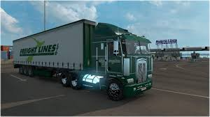 kenworth k100 freightlines kenworth k100 combo mod euro truck simulator 2 mods