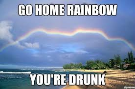 Rainbow Meme - go home rainbow you re drunk weknowmemes