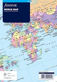 Uk World Map by Filofax A5 World Map Amazon Co Uk Office Products