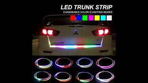 Automotive Led Light Strips Rgb Car Styling Turn Signal Strip Led Trunk Tail Light Colorful